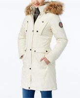 Madden-Girl Faux-Fur-Trim Hooded Parka