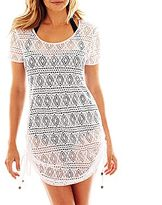 JCPenney Wearabouts Crochet Side-Shirred Cover-Up Tunic