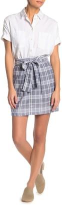 Hyfve Plaid Tie Waist Mini Skirt