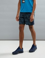 The North Face Mountain Athletics Nsr Dual Running Shorts In Navy Camo Print