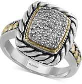 Effy Balissima Diamond Statement Ring (1/5 ct. t.w.) in Sterling Silver and 18k Gold