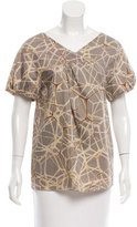 United Bamboo Abstract Short Sleeve Top