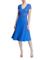 Shoshanna Anara Cap-Sleeve Dress