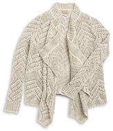 Lucky Brand Girls 7-16 Open Front Knit Cardigan