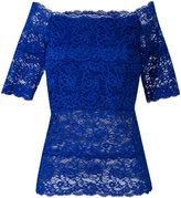 D-Exterior D.Exterior - boat neck lace blouse - women - Elastodiene/Polyamide/Spandex/Elastane/Viscose - M