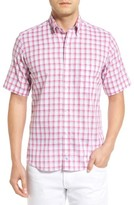 Tailorbyrd Men's Regular Fit Short Sleeve Windowpane Sport Shirt