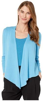 Nic+Zoe Petite Four-Way Cardy (Deep Turquoise) Women's Clothing
