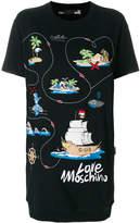 Love Moschino print logo-patch T-shirt dress