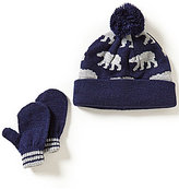 Starting Out Baby Boys Polar Bear Intarsia Hat & Mittens Set