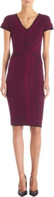 Narciso Rodriguez Abstract Houndstooth Short Sleeve Dress