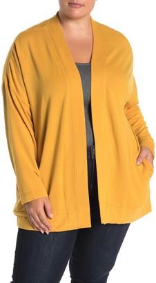Workshop Open Front Fleece Cardigan (Plus Size)