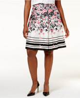 Charter Club Plus Size Printed A-Line Skirt, Only at Macy's