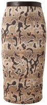 Missoni Abstract leopard printed pencil skirt