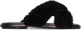 Rosetta Getty Shearling Sandals