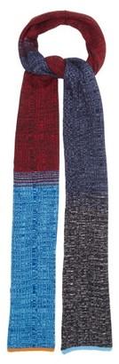 Missoni Colour-block Rib-knitted Scarf - Navy Multi