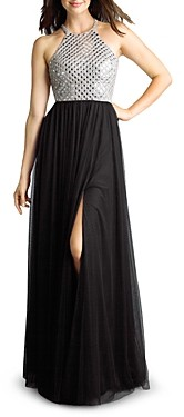 Basix II Mirrored Halter Gown