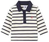 Petit Bateau Baby boy's long-sleeved striped polo shirt