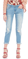 Celebrity Pink Rolled Cuff Stretch Girlfriend Jeans