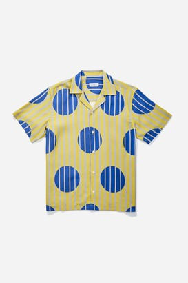 Saturdays NYC Canty Striped Polka Dot Short Sleeve Shirt
