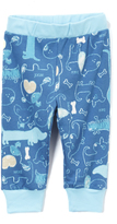 Baby Nay Blue Woof Friends Leggings - Infant