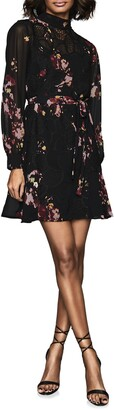 Reiss Rakel Floral Crochet Lace Mini Dress