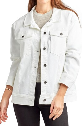 Sam Edelman Ixora Stretch Cotton Trucker Jacket