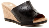 Clarks Helio Corridor Perforated Leather Wedge