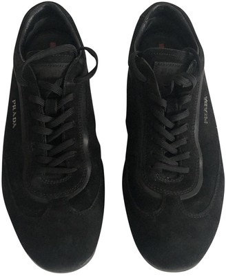 Prada Black Suede Trainers