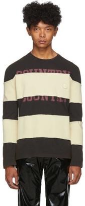 Telfar Black Striped Long Sleeve T-Shirt