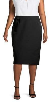 Kasper Plus Skimmer Pencil Skirt