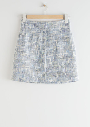And other stories Tailored High Waisted Tweed Mini Skirt