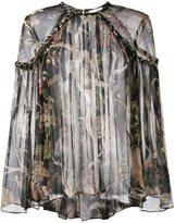 Zimmermann sheer floral print blouse