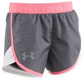 Under Armour Checkpoint Fast Lane Shimmer Pattern Shorts in Pink