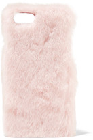 The Case Factory Faux Shearling Iphone 7 Case - Pink