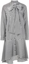 Osman tied collar striped dress