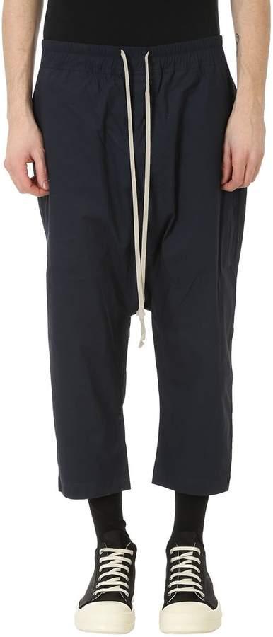 Drkshdw Drawstring Crop Blue Cotton Pants
