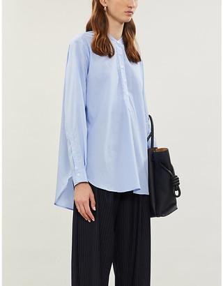 Joseph Luke cotton pinstripe blouse