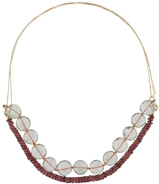 ALIITA 9kt yellow gold Princesa beaded necklace