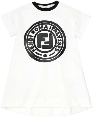 Fendi Kids Logo cotton dress
