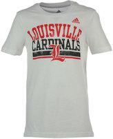 adidas Little Girls' Louisville Cardinals Collegiate Weathering T-Shirt