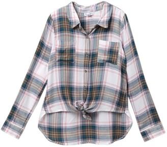 Love, Fire Perfect Plaid Shirt (Big Girls)