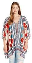 Angie Juniors Plus Floral Kimono