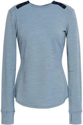 Erin Snow Striped Merino Wool-blend Jersey Top