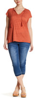 One 5 One Frayed Hem Cropped Jean (Plus Size)