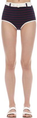 Solid & Striped Nantucket Belted Bikini Bottoms