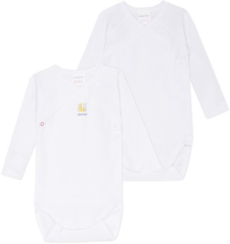 Absorba Pack of 2 Organic Cotton Bodysuits, Birth-6 Months