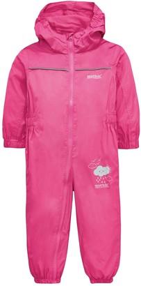 Regatta Baby Girl Puddle IV Splash Suit - Pink