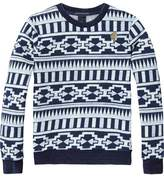 Scotch & Soda Indigo Printed Sweater