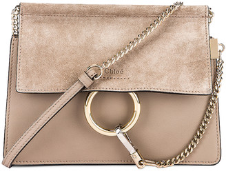 Chloé Mini Faye Shoulder Bag in Motty Grey | FWRD