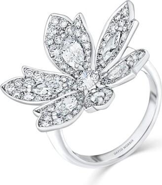 David Morris White Gold Palm Ring